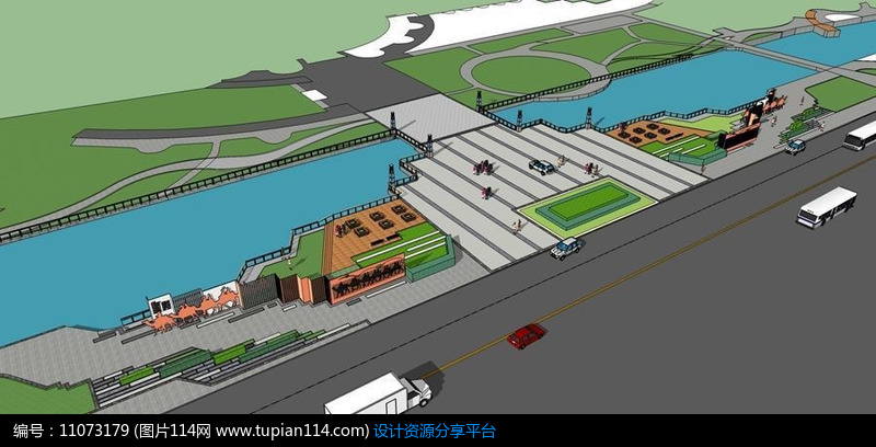 [原创] 河道游步道景观设计