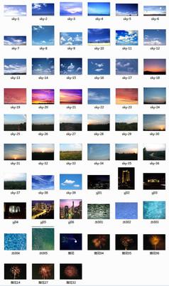 天空以及水面贴图