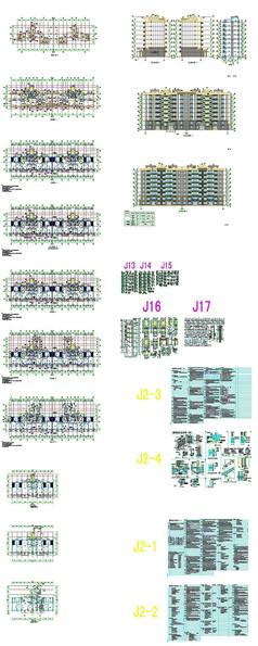 地产综合建筑CAD方案图纸