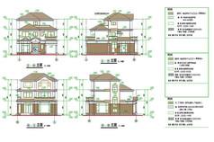 三层别墅立面图纸