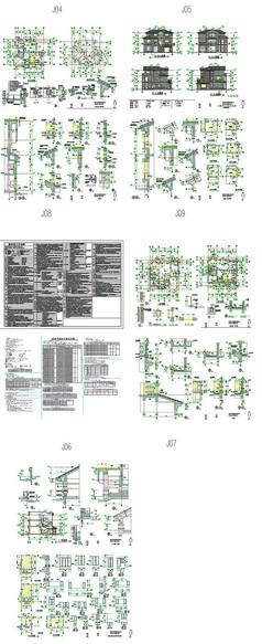 别墅建筑立面图纸