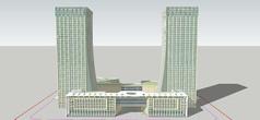 现代创意办公建筑模型