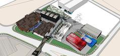 现代集装箱改造广场景观设计