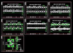 五棵松文化体育中心道路绿化CAD配置图