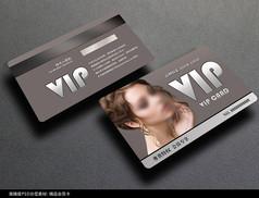 时尚美发会员卡模板