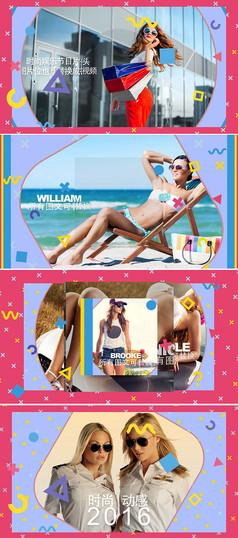 时尚TV电视娱乐节目视频片头模板