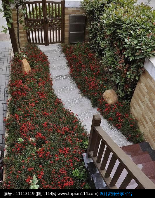 庭院景观植物楼梯别墅景观吐水水景跌水景观小品景观雕塑木平台景墙