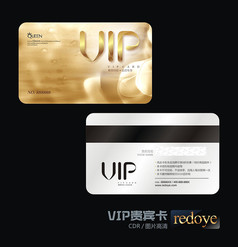 金色背景VIP贵宾卡