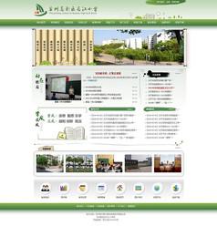 绿色中国风学校网页模板