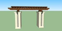 木质廊架门