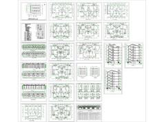 多层住宅建筑平立面室内布置总图