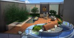 阳台休闲花园景观效果