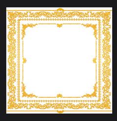 金色花纹相框模板图片下载