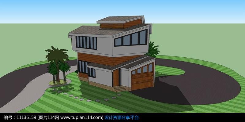 [原创] 现代拼接别墅设计