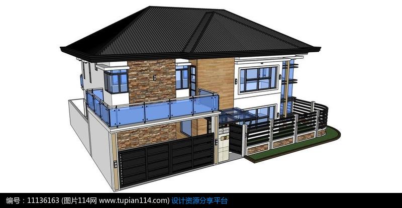 [原创] 现代别墅设计模型