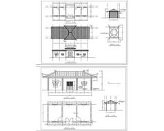 古建筑立面建筑图