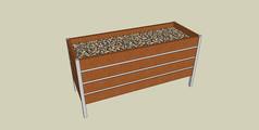 装饰移动木质格栅花箱