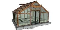 玻璃种植温室SU模型