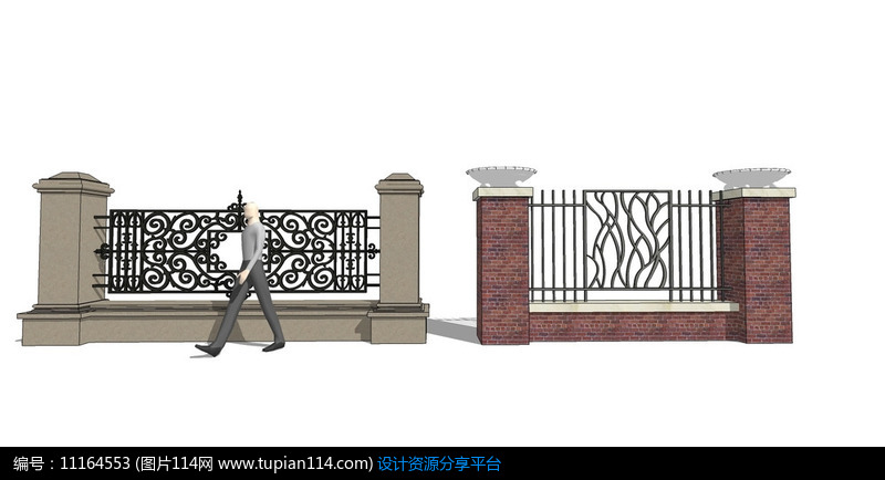 [原创] 欧式花边围墙