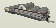 农业温室大棚SU模型