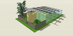 透明温室SU模型