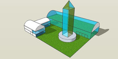 现代化温室SU模型