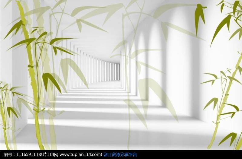 现代竹子电视背景墙设计素材免费下载_其他设计psd
