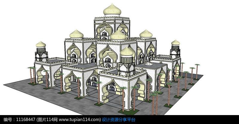 相关素材 会所多层建筑公共建筑室外建筑欧式建筑su模型su图库建筑