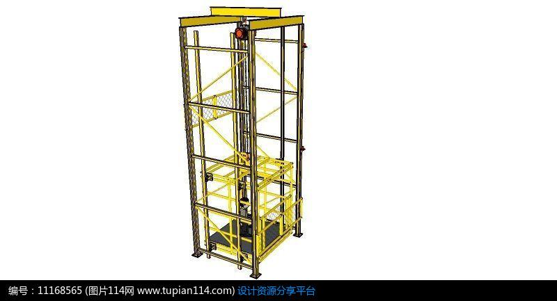 升降货梯 | 剪叉式载重能力大,室外货梯简易电梯是靠液压千斤顶的原理图片