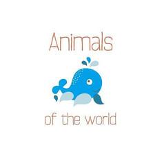 蓝色小海豚卡通图案
