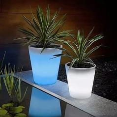 彩色花盆灯具