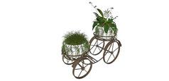 植物装饰花架车