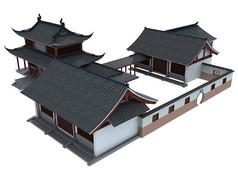 古代庭院模型