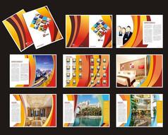 红色酒店画册