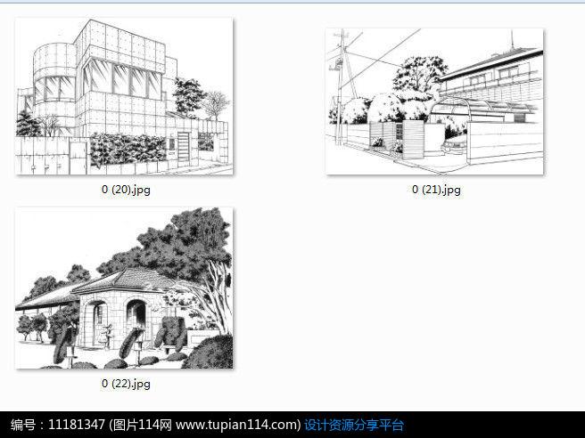 [原创] 住宅房子线稿手绘