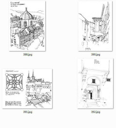 国外建筑师手绘建筑立面图