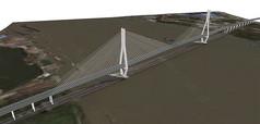 金属拉锁大桥模型