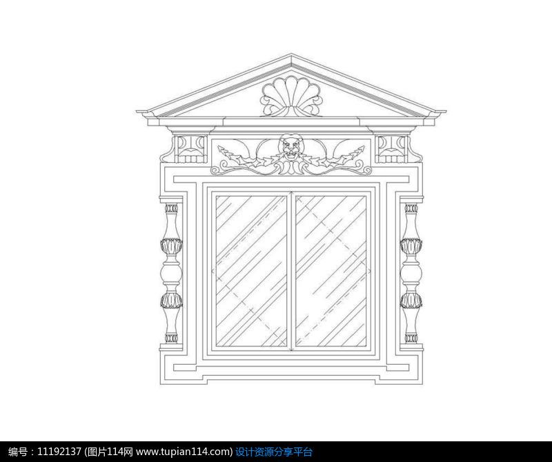 [原创] 欧式大理石花纹窗户