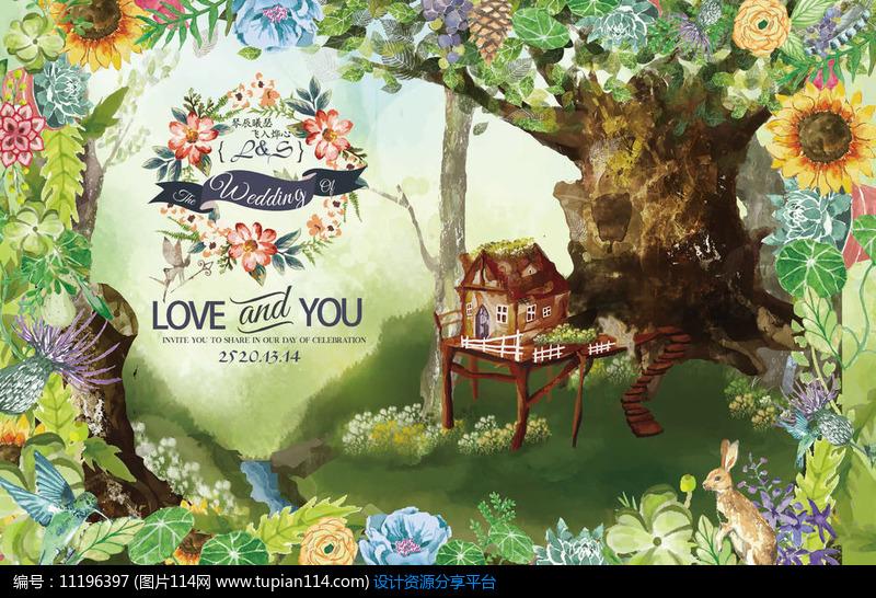 [原创] 森系婚礼背景设计