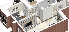 室内家装平层su草图效果图