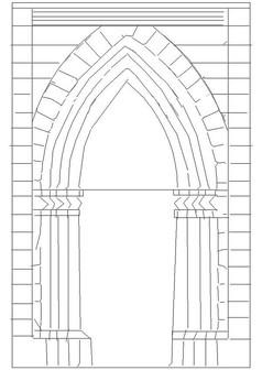 欧式罗马风门样式