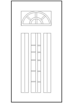 门样式CAD图块