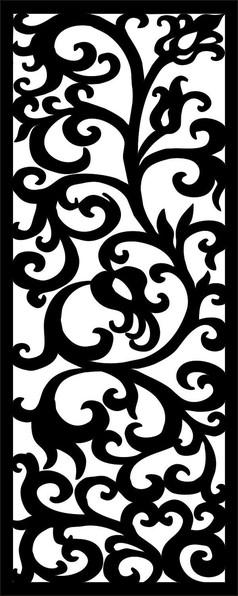 木艺花纹雕刻图案