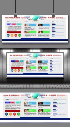 简约大气企业文化宣传栏