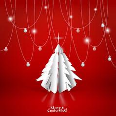 简约创意圣诞节快乐海报设计素材