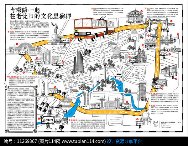手绘创意沈阳地图设计素材免费下载 其他模板ai 图片