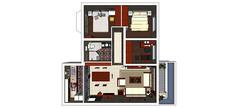 三室两厅一厨一卫一阳台