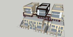现代仿集装箱式别墅SU模型