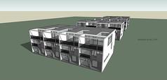 类集装箱别墅模型