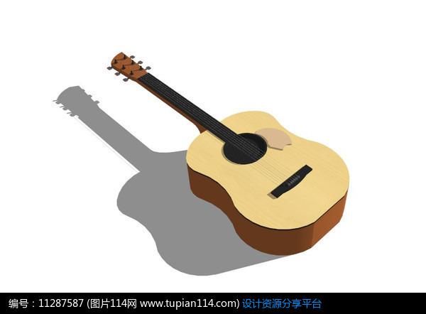 普通吉他,其他,3d模型库免费下载,3dmax模型免费下载